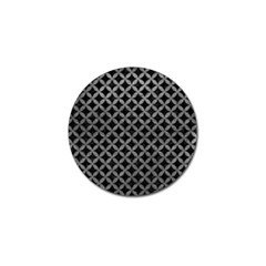 Circles3 Black Marble & Gray Leather Golf Ball Marker