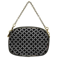 Circles3 Black Marble & Gray Leather Chain Purses (two Sides)