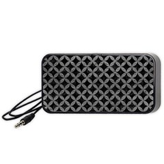 Circles3 Black Marble & Gray Leather Portable Speaker (black)
