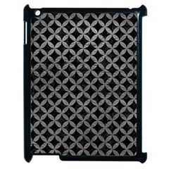 Circles3 Black Marble & Gray Leather Apple Ipad 2 Case (black)