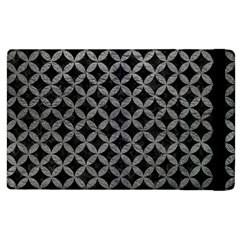 Circles3 Black Marble & Gray Leather Apple Ipad 2 Flip Case
