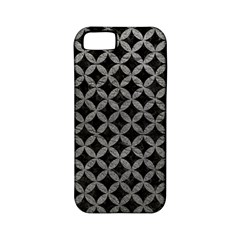 Circles3 Black Marble & Gray Leather Apple Iphone 5 Classic Hardshell Case (pc+silicone)