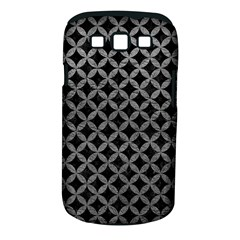 Circles3 Black Marble & Gray Leather Samsung Galaxy S Iii Classic Hardshell Case (pc+silicone)