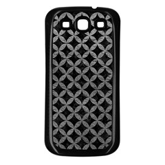 Circles3 Black Marble & Gray Leather Samsung Galaxy S3 Back Case (black)