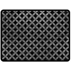 Circles3 Black Marble & Gray Leather Double Sided Fleece Blanket (large)