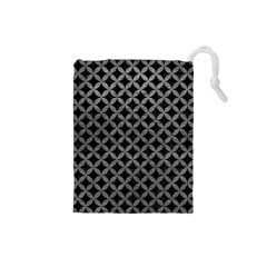 Circles3 Black Marble & Gray Leather Drawstring Pouches (small)