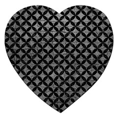 Circles3 Black Marble & Gray Leather (r) Jigsaw Puzzle (heart)