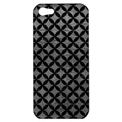 Circles3 Black Marble & Gray Leather (r) Apple Iphone 5 Hardshell Case