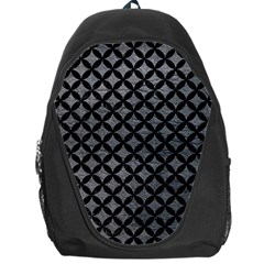 Circles3 Black Marble & Gray Leather (r) Backpack Bag