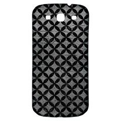 Circles3 Black Marble & Gray Leather (r) Samsung Galaxy S3 S Iii Classic Hardshell Back Case
