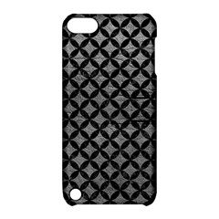 Circles3 Black Marble & Gray Leather (r) Apple Ipod Touch 5 Hardshell Case With Stand
