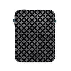 Circles3 Black Marble & Gray Leather (r) Apple Ipad 2/3/4 Protective Soft Cases