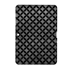Circles3 Black Marble & Gray Leather (r) Samsung Galaxy Tab 2 (10 1 ) P5100 Hardshell Case