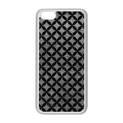 Circles3 Black Marble & Gray Leather (r) Apple Iphone 5c Seamless Case (white)