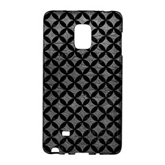 Circles3 Black Marble & Gray Leather (r) Galaxy Note Edge