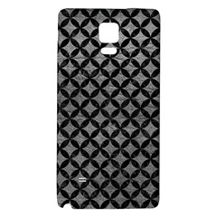 Circles3 Black Marble & Gray Leather (r) Galaxy Note 4 Back Case