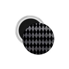 Diamond1 Black Marble & Gray Leather 1 75  Magnets