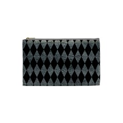 Diamond1 Black Marble & Gray Leather Cosmetic Bag (small)