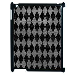 Diamond1 Black Marble & Gray Leather Apple Ipad 2 Case (black)