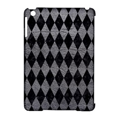Diamond1 Black Marble & Gray Leather Apple Ipad Mini Hardshell Case (compatible With Smart Cover)