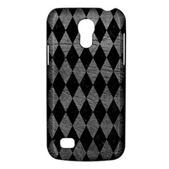 Diamond1 Black Marble & Gray Leather Galaxy S4 Mini