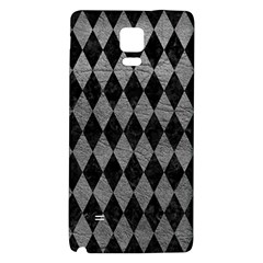 Diamond1 Black Marble & Gray Leather Galaxy Note 4 Back Case