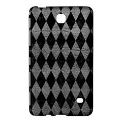 Diamond1 Black Marble & Gray Leather Samsung Galaxy Tab 4 (8 ) Hardshell Case