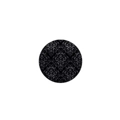 Damask1 Black Marble & Gray Leather 1  Mini Buttons