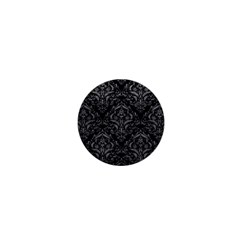 Damask1 Black Marble & Gray Leather 1  Mini Magnets