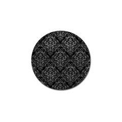 Damask1 Black Marble & Gray Leather Golf Ball Marker (10 Pack)