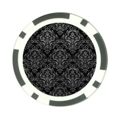 Damask1 Black Marble & Gray Leather Poker Chip Card Guard (10 Pack)