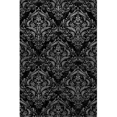 Damask1 Black Marble & Gray Leather 5 5  X 8 5  Notebooks