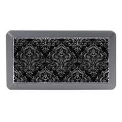 Damask1 Black Marble & Gray Leather Memory Card Reader (mini)