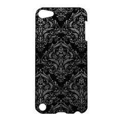 Damask1 Black Marble & Gray Leather Apple Ipod Touch 5 Hardshell Case