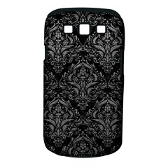 Damask1 Black Marble & Gray Leather Samsung Galaxy S Iii Classic Hardshell Case (pc+silicone)
