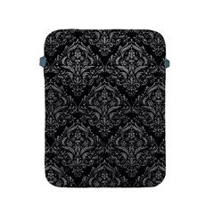 Damask1 Black Marble & Gray Leather Apple Ipad 2/3/4 Protective Soft Cases