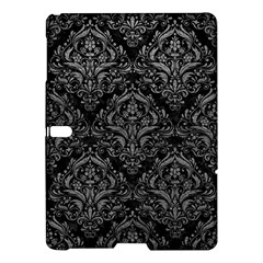 Damask1 Black Marble & Gray Leather Samsung Galaxy Tab S (10 5 ) Hardshell Case