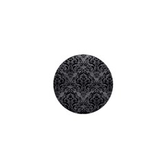 Damask1 Black Marble & Gray Leather (r) 1  Mini Magnets