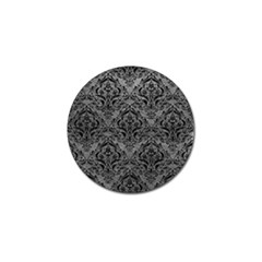 Damask1 Black Marble & Gray Leather (r) Golf Ball Marker (4 Pack)