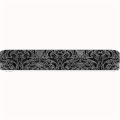 Damask1 Black Marble & Gray Leather (r) Small Bar Mats