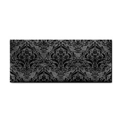 Damask1 Black Marble & Gray Leather (r) Cosmetic Storage Cases