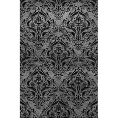 Damask1 Black Marble & Gray Leather (r) 5 5  X 8 5  Notebooks