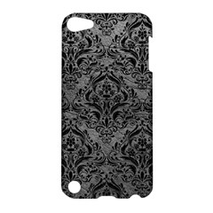 Damask1 Black Marble & Gray Leather (r) Apple Ipod Touch 5 Hardshell Case