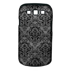 Damask1 Black Marble & Gray Leather (r) Samsung Galaxy S Iii Classic Hardshell Case (pc+silicone)