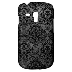 Damask1 Black Marble & Gray Leather (r) Galaxy S3 Mini