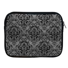 Damask1 Black Marble & Gray Leather (r) Apple Ipad 2/3/4 Zipper Cases