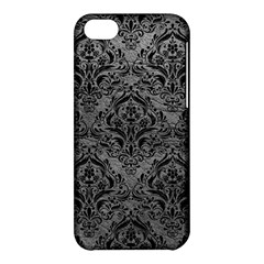 Damask1 Black Marble & Gray Leather (r) Apple Iphone 5c Hardshell Case