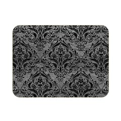 Damask1 Black Marble & Gray Leather (r) Double Sided Flano Blanket (mini)