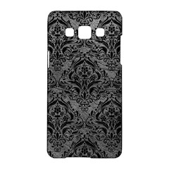 Damask1 Black Marble & Gray Leather (r) Samsung Galaxy A5 Hardshell Case