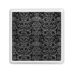 Damask2 Black Marble & Gray Leather Memory Card Reader (square)